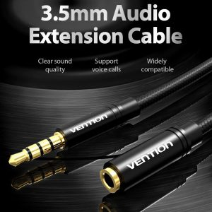 Cable Extension 3.5mm Audifonos Auxiliar Celular Pc 3mts Mic